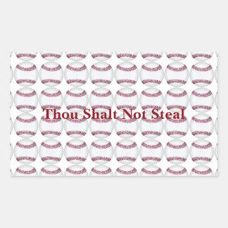 Thou Shalt Not Steal Rectangular Sticker