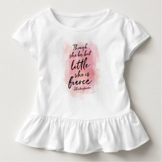 Though she be but little baby girls ruffle shirt