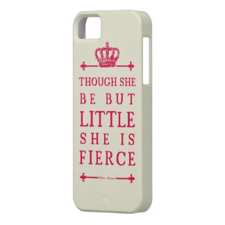 Though she be but little she is fierce barely there iPhone 5 case
