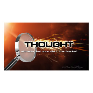 Thought Attracts Goal Cards Business Card Templates