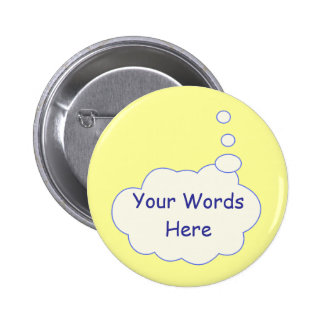 Thought Bubble Template 6 Cm Round Badge