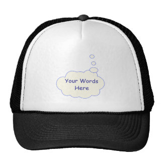 Thought Bubble Template Hat