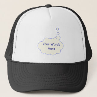 Thought Bubble Template Trucker Hat