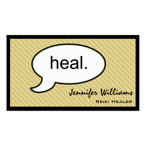 Thought Cloud Healing Reiki Heal Business Card