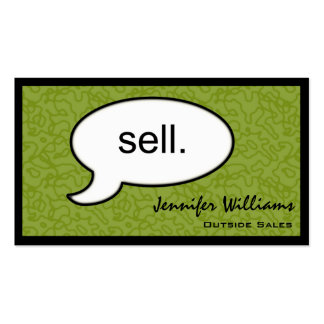 Thought Cloud Sell Salesman Business Card