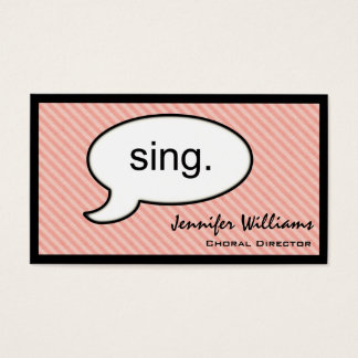 Thought Cloud Sing Choir Singer Business Card