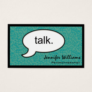 Psychotherapist business cards business card printing zazzle uk thought cloud talk psychotherapist business card colourmoves