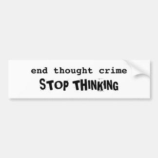 Thought Crime bumper sticker Car Bumper Sticker