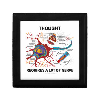 Thought Requires A Lot Of Nerve (Neuron / Synapse) Small Square Gift Box