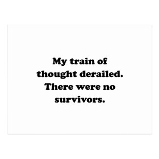Thought Train Derailed Postcard