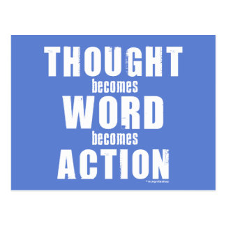 Thought Word Action Postcards
