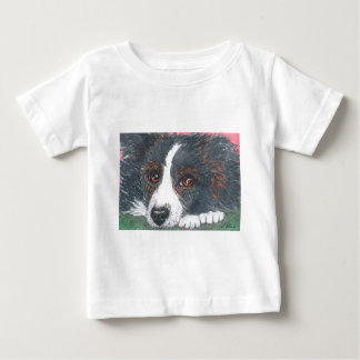 Thoughtful Border Collie Dog Baby T-Shirt