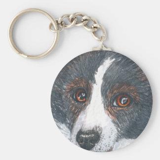 Thoughtful Border Collie Dog Key Ring
