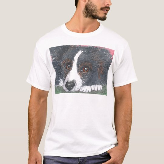 Thoughtful Border Collie Dog T-Shirt