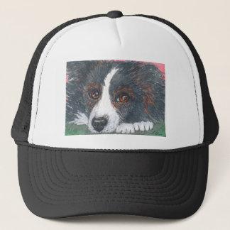 Thoughtful Border Collie Dog Trucker Hat