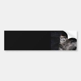 Thoughtful Gorilla Bumper Stickers