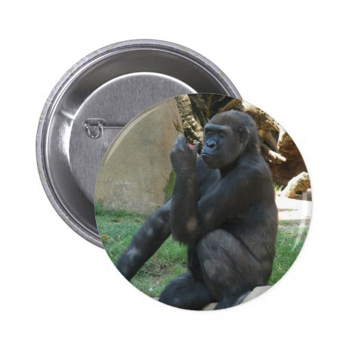 Thoughtful Gorilla Button