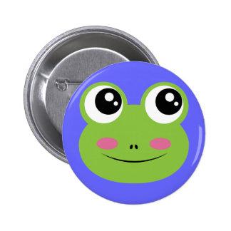 Thoughtful Kaeru 6 Cm Round Badge