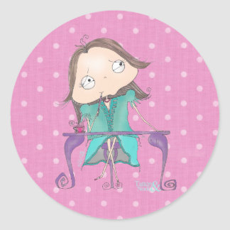 """Thoughtful Me"" - Pink & Teal Polka Dot Stickers"