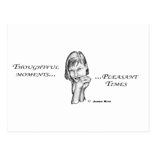 Thoughtful Moments...Pleasant Times Post Card