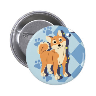 Thoughtful Shiba Inu 6 Cm Round Badge