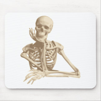 Thoughtful Skeleton Mouse Mat