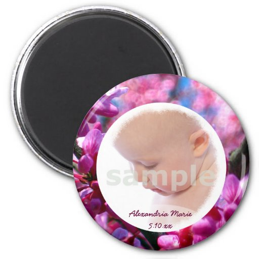 Thoughtfulness BABY GIRL Personalized Photo Magnet