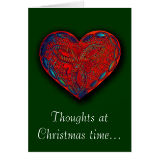 Thoughts at Christmas time... Romantic greeting Card
