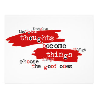 Thoughts become things flyer design