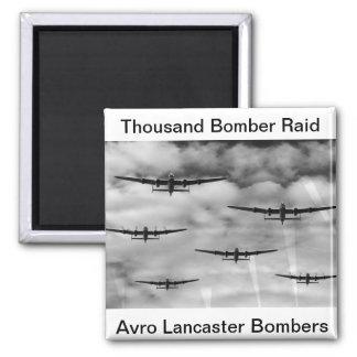 Thousand Bomber Raid Refrigerator Magnet