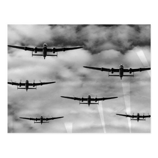 Thousand Bomber Raid Post Card