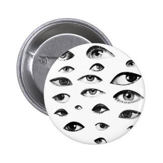 Thousand eyes 6 cm round badge