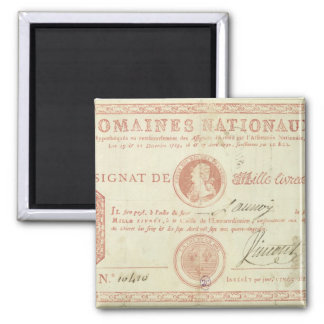 Thousand livre banknote with Louis XVI's Magnet