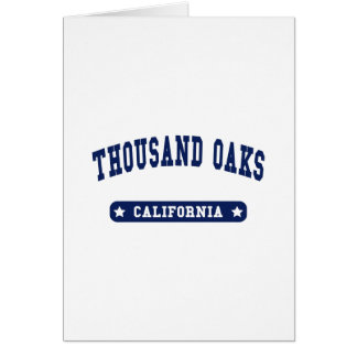 Thousand Oaks California College Style tee shirts Card