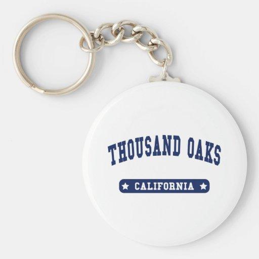 Thousand Oaks California College Style tee shirts Key Chains
