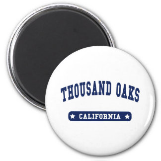 Thousand Oaks California College Style tee shirts Refrigerator Magnets