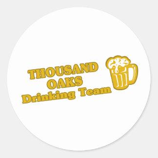 Thousand Oaks Drinking Team tee shirts Round Sticker