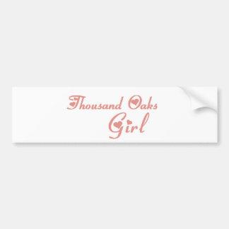 Thousand Oaks Girl tee shirts Bumper Stickers