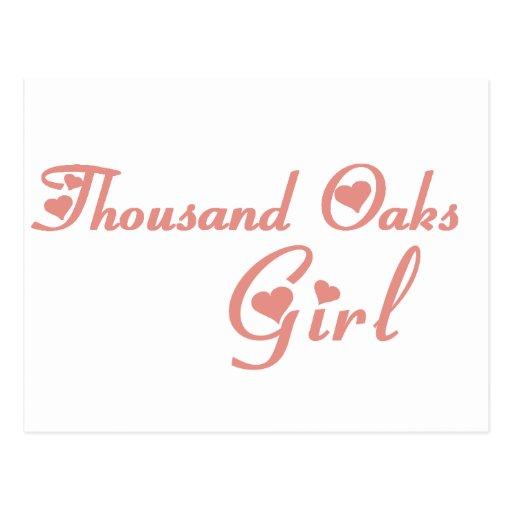 Thousand Oaks Girl tee shirts Post Card