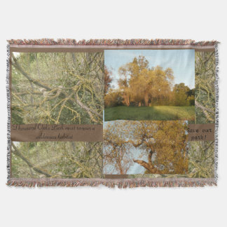 Thousand Oaks park conservation trees and landscap Throw Blanket