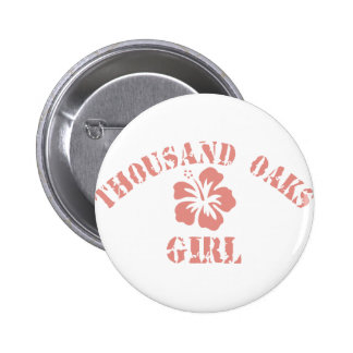 Thousand Oaks Pink Girl 6 Cm Round Badge