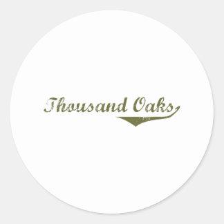 Thousand Oaks  Revolution t shirts Round Sticker