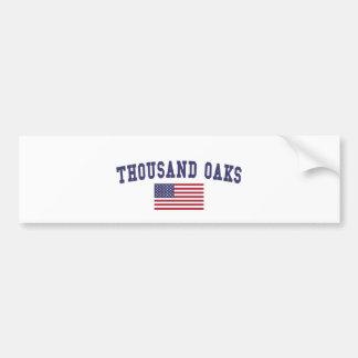 Thousand Oaks US Flag Bumper Sticker