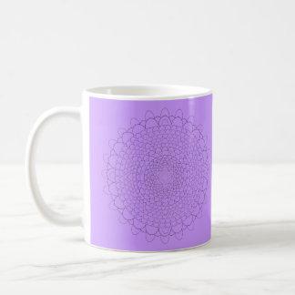 Thousand Petal Lotus Mug with Violet Background