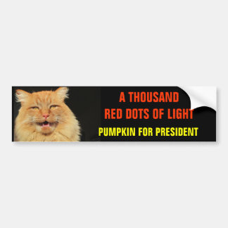 Thousand Red Dots of Light Bumper Stickers