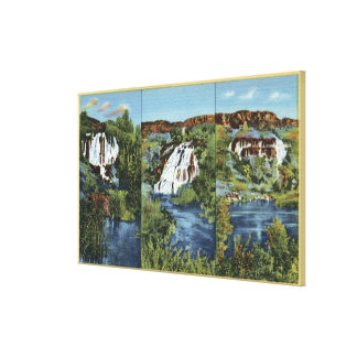 Thousand Springs, ID - Juniper, Wing, and Minnie Stretched Canvas Prints