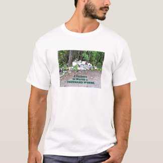 """Thousand Word"" picture of the results of litter. T-Shirt"