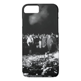 Thousands of books smoulder in a_War image iPhone 7 Case