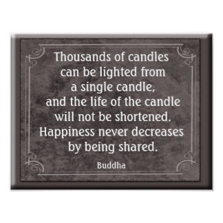 Thousands of Candles - Buddha - Art Print