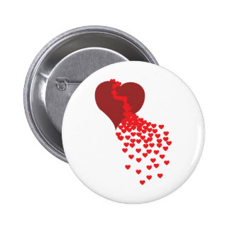 Thousands Of Hearts 6 Cm Round Badge